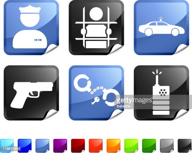 Law Enforcement royalty free vector icon set