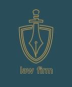 Law firm emblem. Vector illustration.