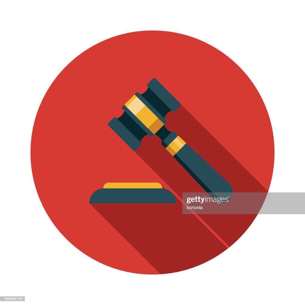 Recht flach Wahlen Designikone mit Seite Schatten : Stock-Illustration