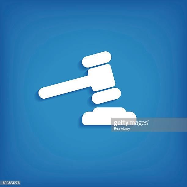 law flat icon - finance and economy stock illustrations, clip art, cartoons, & icons
