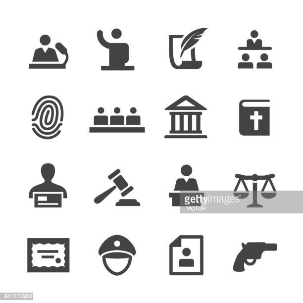 law icons set - acme series - courthouse stock illustrations, clip art, cartoons, & icons