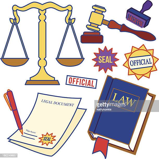 law icons - legal document stock illustrations, clip art, cartoons, & icons