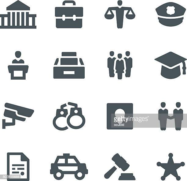 law & order icons - arrest stock illustrations, clip art, cartoons, & icons