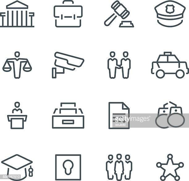 law & order icons - courthouse stock illustrations, clip art, cartoons, & icons