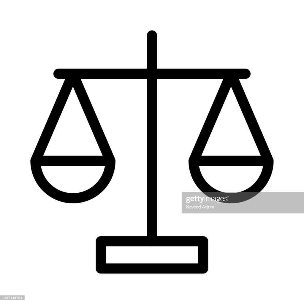 Law Thin Line Vector Icon