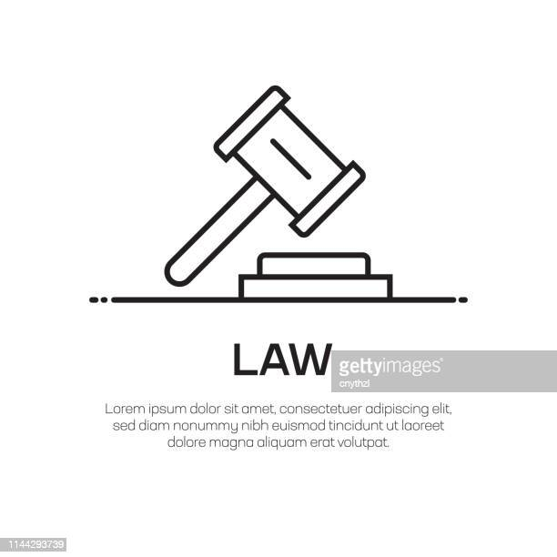 law vector line icon - simple thin line icon, premium quality design element - criação digital stock illustrations