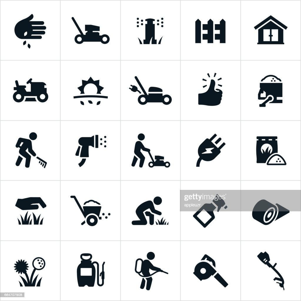 Lawn Care Icons : stock illustration