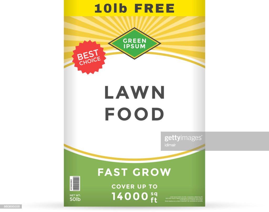 lawn fertilizer packaging design template vector vector art getty