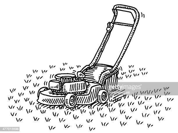 図面芝刈り機ガーデニング