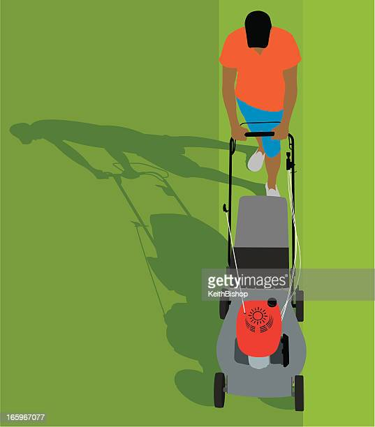 芝刈り機-園芸用品の背景