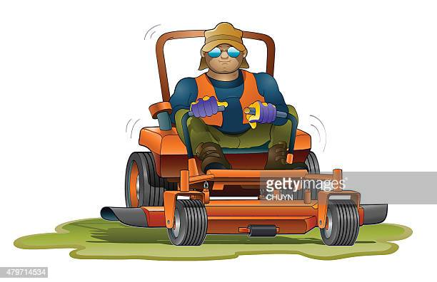 lawn mower stock illustrations and cartoons