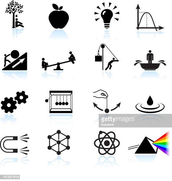 法の物理学ロイヤリティフリーのベクターアイコンセット - 巨礫点のイラスト素材/クリップアート素材/マンガ素材/アイコン素材