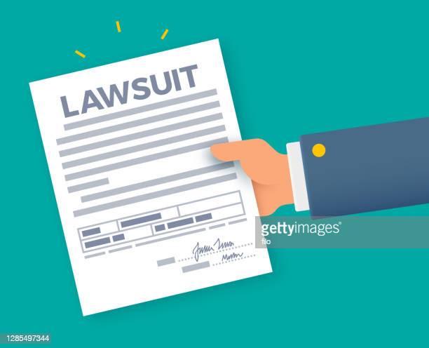 lawsuit court documents - lawsuit stock illustrations