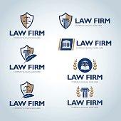 Lawyer emblem design templates.