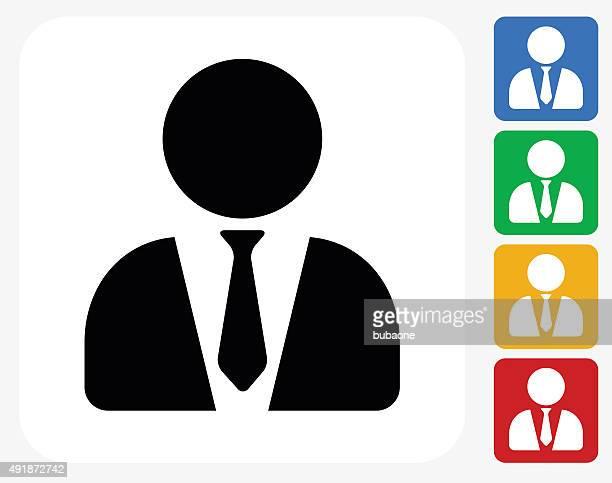 illustrazioni stock, clip art, cartoni animati e icone di tendenza di avvocato icona piatto di design grafico - rappresentare