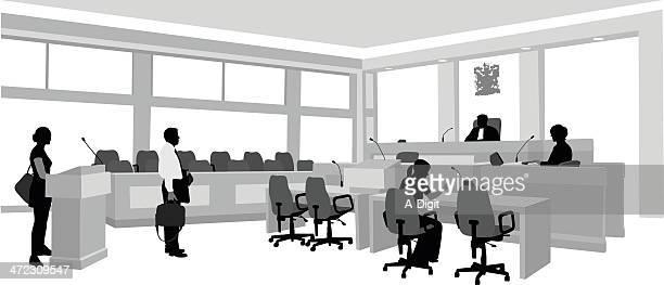 lawyers - plaintiff stock illustrations