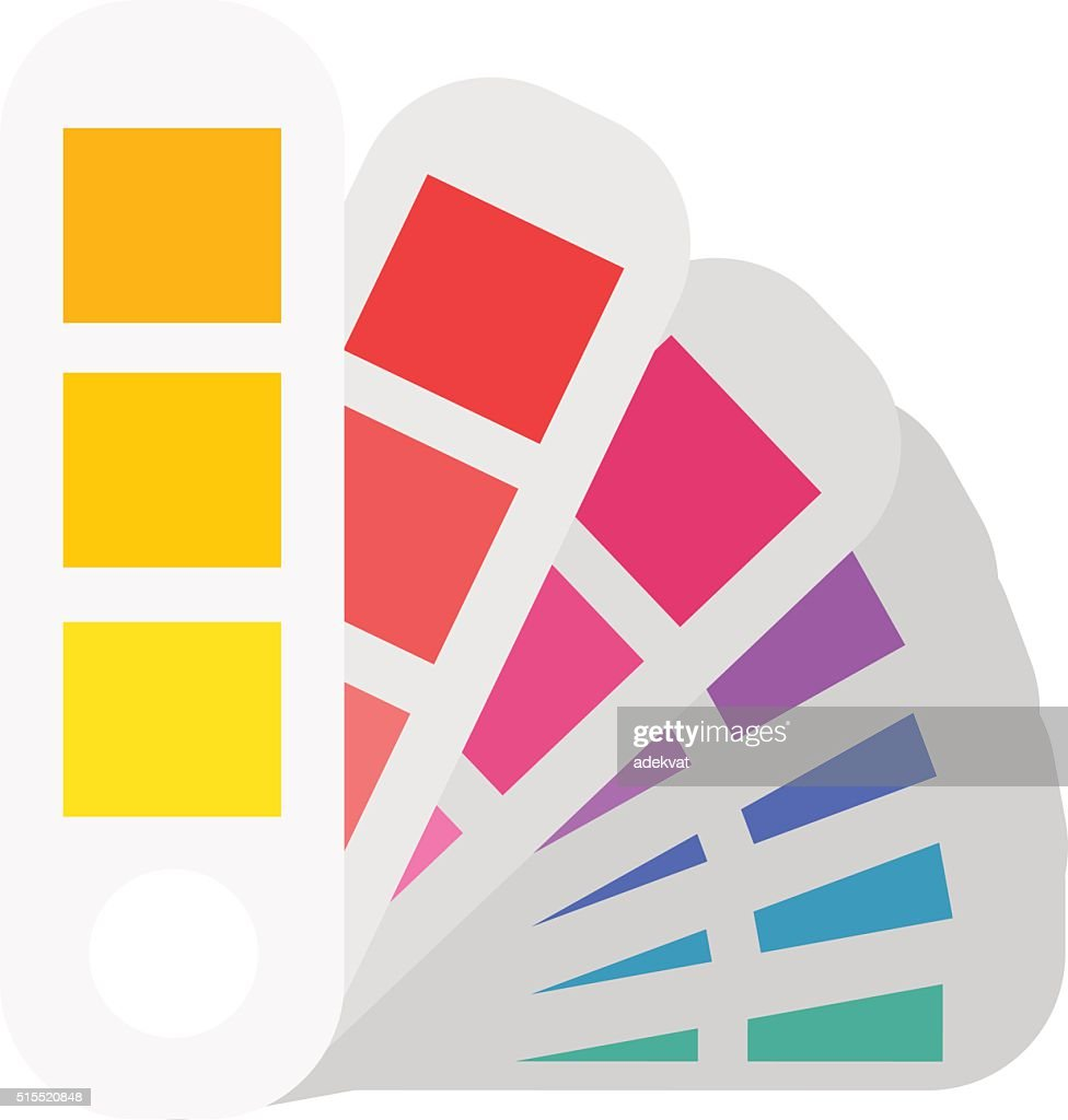Layout color samples to determine preferences in the printing industry
