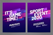 Layout poster template design for sport event