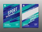 Layout template Design, Sport Background, Dynamic Poster, Brush Speed Banner, Vector Illustration.