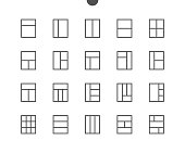 Layout UI Pixel Perfect Well-crafted Vector Thin Line Icons 48x48 Ready for 24x24 Grid for Web Graphics and Apps with Editable Stroke. Simple Minimal Pictogram