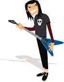 Lead Guitarist Cartoon
