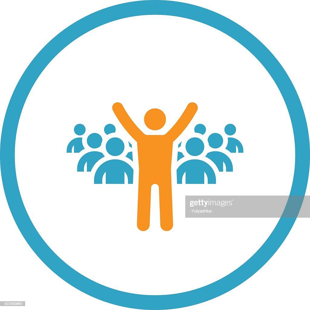 Leader Icon. Business Concept. Flat Design.