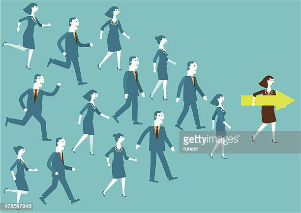 Leader Shows Direction | New Business Concept