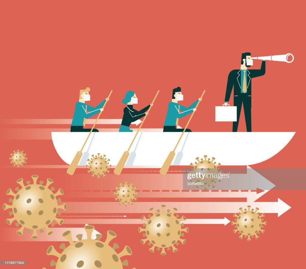 Führung und Teamarbeit : Stock-Illustration
