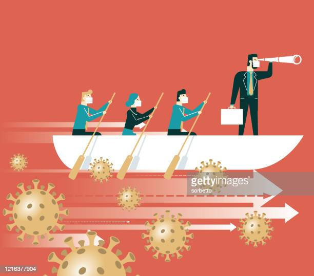leadership and teamwork - leadership stock illustrations