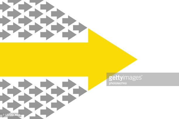 leadership concepts with arrows - following stock illustrations