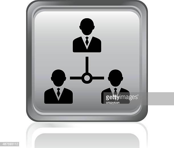 leadership icon on a square button. - governmental occupation stock illustrations, clip art, cartoons, & icons