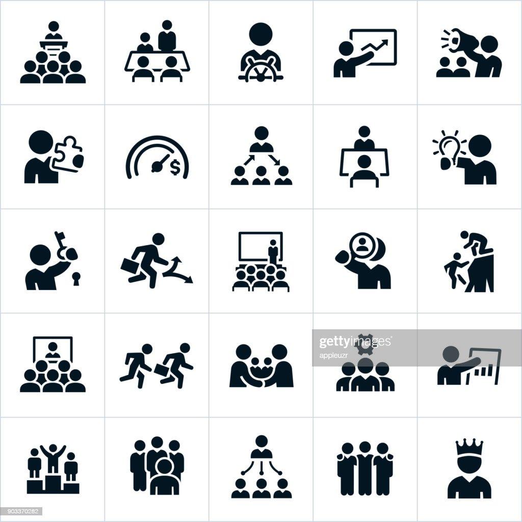 Leadership Icons : stock illustration