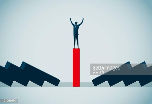 leadership - domino effect stock illustrations
