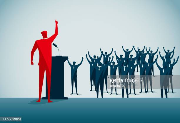 leadership - political crowd stock illustrations