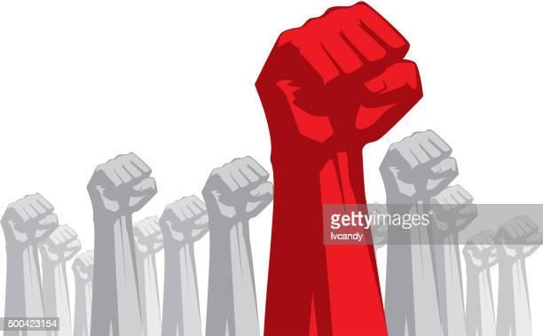 leadership - fist stock illustrations
