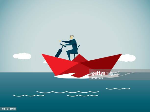 leadership - motorboating stock illustrations, clip art, cartoons, & icons