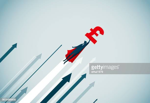 leadership - pound symbol stock illustrations