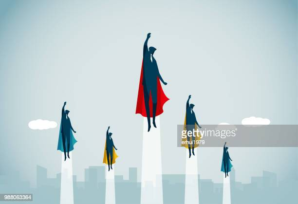 leadership - heroes stock illustrations
