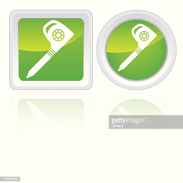 leaf blower icons - leaf blower stock illustrations, clip art, cartoons, & icons