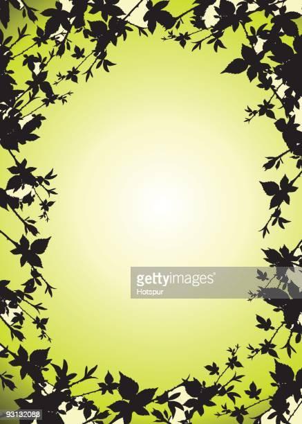 leaf border frame - surrounding stock illustrations, clip art, cartoons, & icons