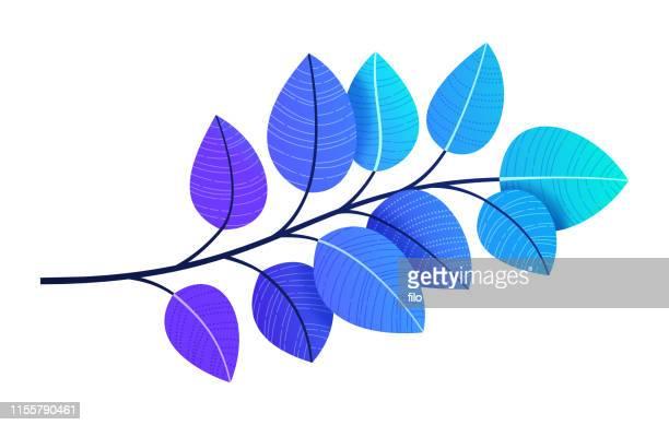 leaf branch - aspen tree stock illustrations, clip art, cartoons, & icons