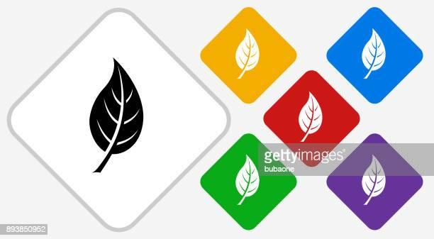 Leaf Color Diamond Vector Icon