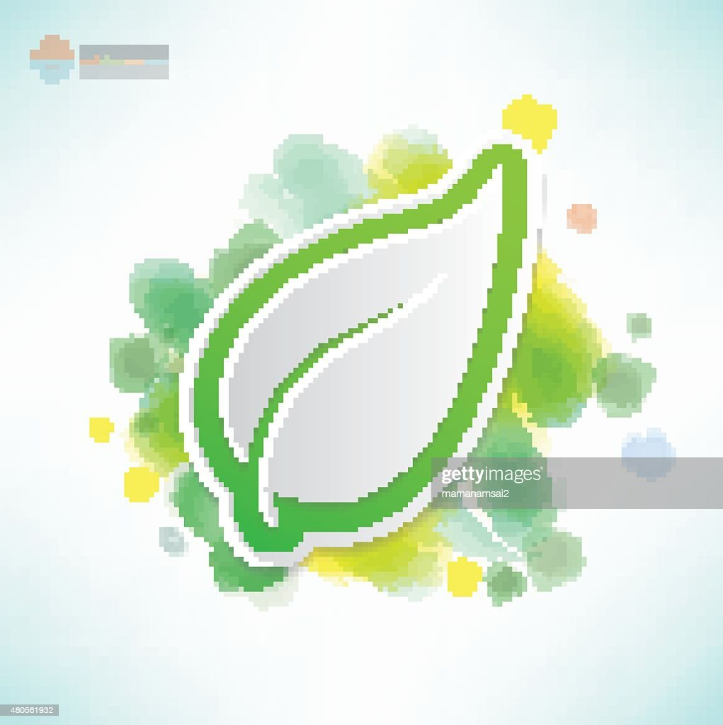 Leaf design,Water colour concept,clean vector : Vector Art