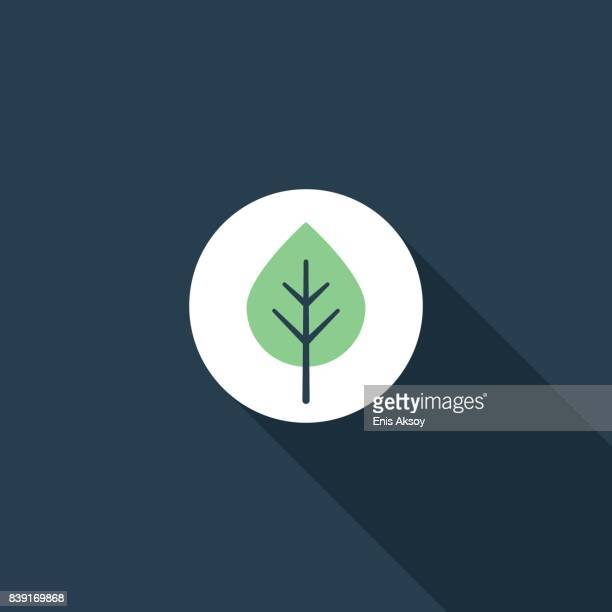 leaf flat icon - leaving stock illustrations