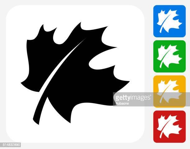 ilustraciones, imágenes clip art, dibujos animados e iconos de stock de hoja plana de iconos de diseño gráfico - arce