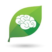 leaf icon with a brain