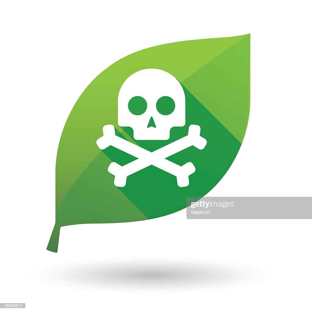 leaf icon with a skull