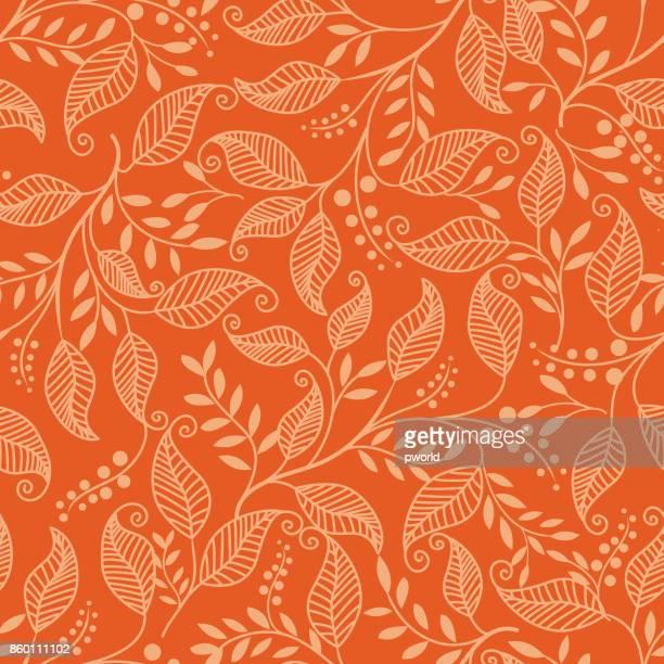 leaf seamless pattern . - flirting stock illustrations, clip art, cartoons, & icons