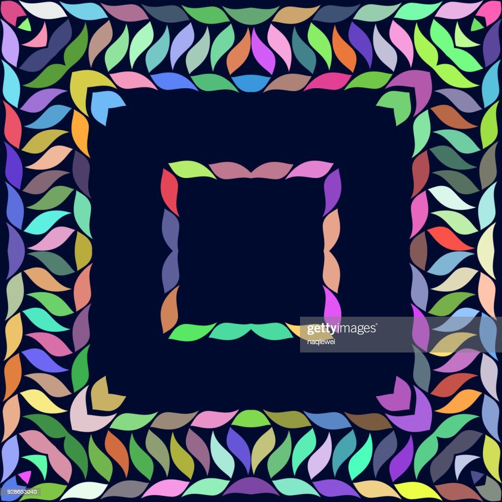 Leaf Style Frame Background Vector Art   Getty Images