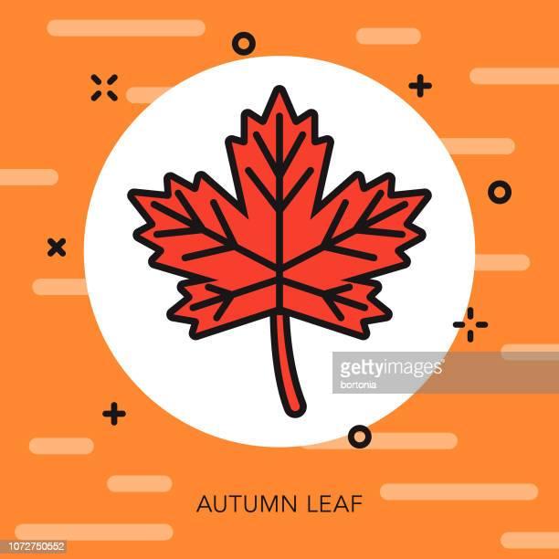 Leaf Thin Line Halloween Icon